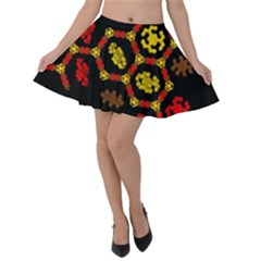 Algorithmic Drawings Velvet Skater Skirt