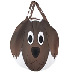 Dog Pup Animal Canine Brown Pet Giant Round Zipper Tote