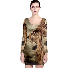 Roaring Lion Long Sleeve Bodycon Dress