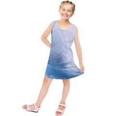Feather Ease Slightly Blue Airy Kids  Tunic Dress