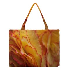 Flowers Leaves Leaf Floral Summer Medium Tote Bag by Nexatart