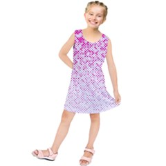 Halftone Dot Background Pattern Kids  Tunic Dress by Nexatart