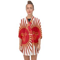 Peru Sun Of May, 1822-1825 Half Sleeve Chiffon Kimono by abbeyz71