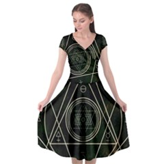 Cult Of Occult Death Detal Hardcore Heavy Cap Sleeve Wrap Front Dress by Sapixe