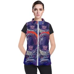 Eve Of Destruction Cgi 3d Sci Fi Space Women s Puffer Vest by Sapixe