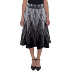 Feather Graphic Design Background Perfect Length Midi Skirt