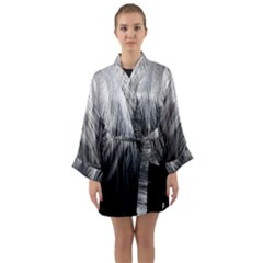 Feather Graphic Design Background Long Sleeve Kimono Robe by Sapixe