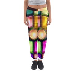 Glass Colorful Stained Glass Women s Jogger Sweatpants by Sapixe