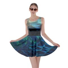 Teal Feathers Skater Dress by chihuahuadresses