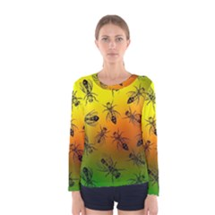 Insect Pattern Women s Long Sleeve Tee by Sapixe