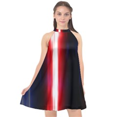 Lights Pattern Halter Neckline Chiffon Dress  by Sapixe