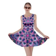 Mandala Circular Pattern Skater Dress
