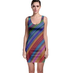 Multicolored Stripe Curve Striped Bodycon Dress