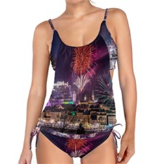 New Year New Year's Eve In Salzburg Austria Holiday Celebration Fireworks Tankini Set by Sapixe