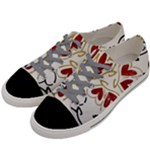Love Love and Hearts Men s Low Top Canvas Sneakers