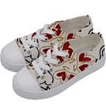 Love Love and Hearts Kids  Low Top Canvas Sneakers