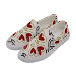 Love Love and Hearts Women s Canvas Slip Ons