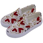 Love Love and Hearts Kids  Canvas Slip Ons