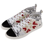 Love Love and Hearts Men s Mid-Top Canvas Sneakers