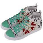 Love Love and Hearts Women s Mid-Top Canvas Sneakers