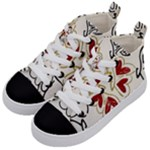 Love Love and Hearts Kid s Mid-Top Canvas Sneakers