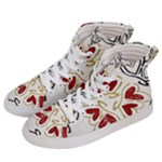 Love Love and Hearts Men s Hi-Top Skate Sneakers