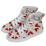 Love Love and Hearts Women s Hi-Top Skate Sneakers
