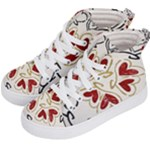 Love Love and Hearts Kid s Hi-Top Skate Sneakers