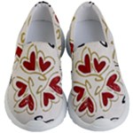 Love Love and Hearts Kid s Lightweight Slip Ons
