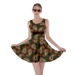 Pattern Abstract Paisley Swirls Skater Dress