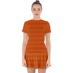 Pattern Creative Background Drop Hem Mini Chiffon Dress by Sapixe