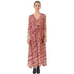 Pink Seas Button Up Boho Maxi Dress by greenthanet