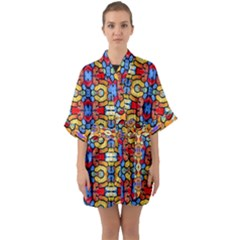 Artwork By Patrick-pattern-37 Quarter Sleeve Kimono Robe by ArtworkByPatrick