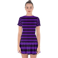 Jester Purple Drop Hem Mini Chiffon Dress by jumpercat