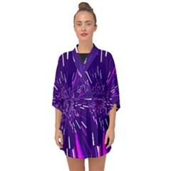 Space Trip 2 Half Sleeve Chiffon Kimono