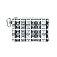 Seamless Pattern Background Black And White Canvas Cosmetic Bag (small) by Sapixe
