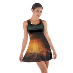 Saturn Rings Fantasy Art Digital Cotton Racerback Dress