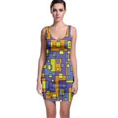Square Background Background Texture Bodycon Dress