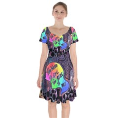 Panic! At The Disco Galaxy Nebula Short Sleeve Bardot Dress