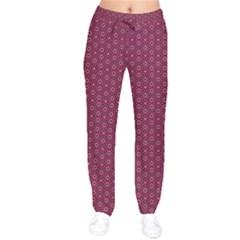 Ethnic Delicate Tiles Velvet Drawstring Pants by jumpercat