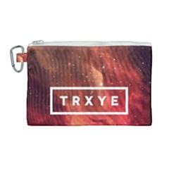 Trxye Galaxy Nebula Canvas Cosmetic Bag (large) by Samandel