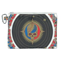 The Grateful Dead Canvas Cosmetic Bag (xl) by Samandel