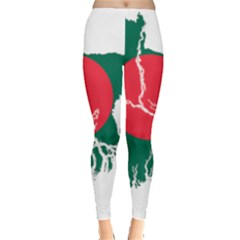 Flag Map Of Bangladesh Leggings  by abbeyz71