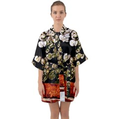 Highland Park 4 Quarter Sleeve Kimono Robe by bestdesignintheworld