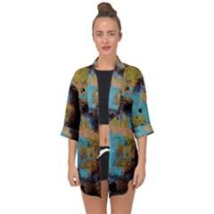 Blue Options 5 Open Front Chiffon Kimono by bestdesignintheworld