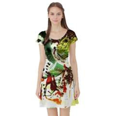 Doves Matchmaking 12 Short Sleeve Skater Dress by bestdesignintheworld