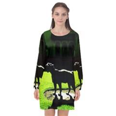 Guard 3 Long Sleeve Chiffon Shift Dress  by bestdesignintheworld
