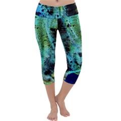 Blue Options 6 Capri Yoga Leggings by bestdesignintheworld