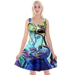 Old Light And New Light Reversible Velvet Sleeveless Dress by bestdesignintheworld