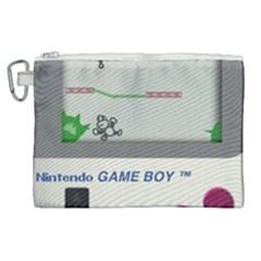 Game Boy White Canvas Cosmetic Bag (xl)